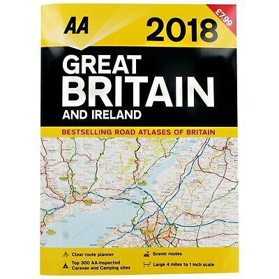 2018 Great Britain and Ireland Road Atlas  - Road Map WH2-R6A-1 : PBL633 : NEW