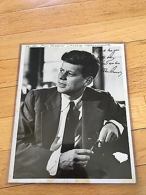 100% AUTHENTICALLY HAND SIGNED b/w 8x10 - President John F. Kennedy