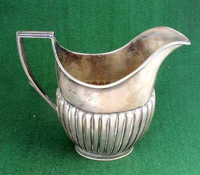 ANTIQUE VICTORIAN STERLING SILVER CREAM JUG IN QUEEN ANNE STYLE! Free S&H
