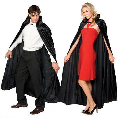 Rubies Long Velvet Cape Halloween Gothic Vampire Fancy Dress Costume Accessory