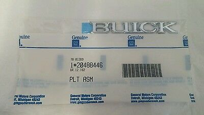 Chrome GM Genuine 25677720 Grille Name Plate Front