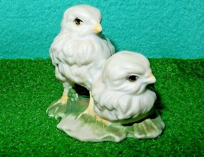 """VINTAGE Porcelain Bird Chicks Mini 2"""" Figurine TAIWAN TAG More items by seller"""