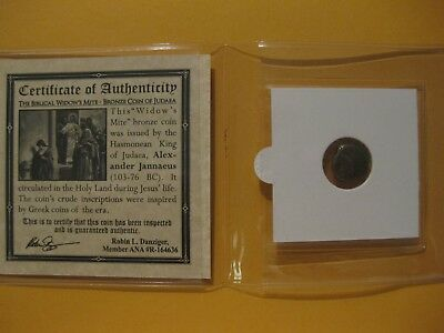 The Widows Mite 2000 year old coin Bible story gift for religion Christian 61