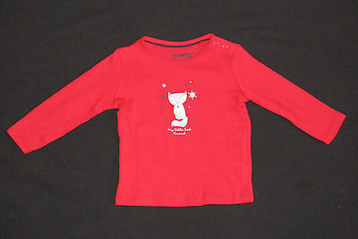 Lupilu Girls Long Sleeve Fox Top New Age 12-24 Mth Red