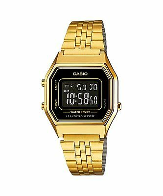 Vintage Casio LA680WGA-1B Ladies Gold Digital Womens Watch NEW LA680