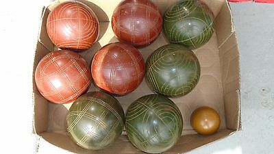 Vintage Sportcraft Bocce Ball Lawn Bowling Set Made in Italy