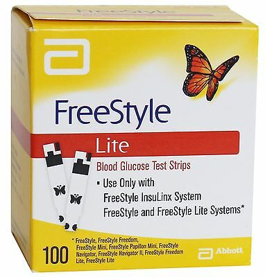 ABBOTT FREESTYLE LITE TEST STRIPS (100 Strips) Expiry January 2019