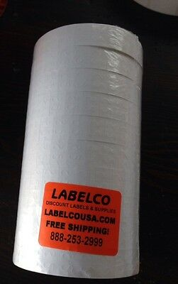 Monarch 1136 White Labels 8 Rolls(14,000 Labels)*inc. 1 Inker*usa Made*new Stock