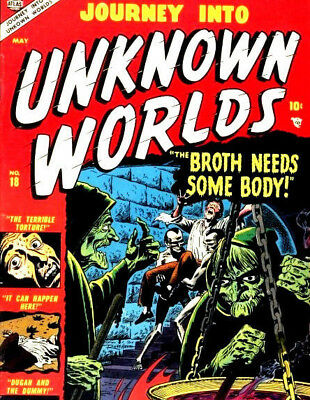 Journey Into Unknown Worlds -  Vintage US Sci Fi Mystery Comics on DVD