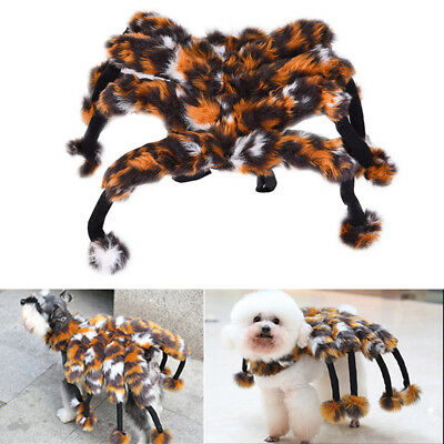 Pet Dog Cosplay Outfit Spider Tarantula Halloween Fancy Puppy Costume Dress Up