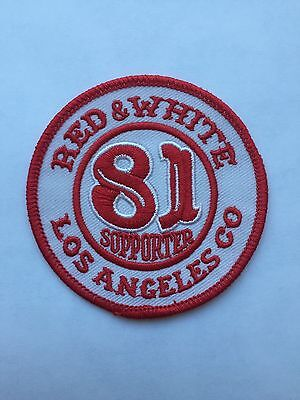 HELLS ANGELS CAVE Creek Red and White Supporter patch