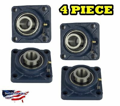 "UCF202-10 Pillow Block Flange Bearing 5/8"" Bore 4 Bolt Solid Base (4PCS)"