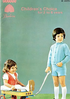 Old 1960's Beehive Knitting Booklet Children's Choice Sweaters