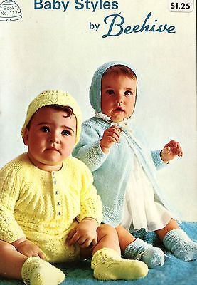 Old 1960's Beehive Knitting Booklet Baby Styles Sweaters