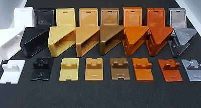 Plastic Corner Connecting Brackets Worktop Shelving Support PACK SIZE 25, 50,100