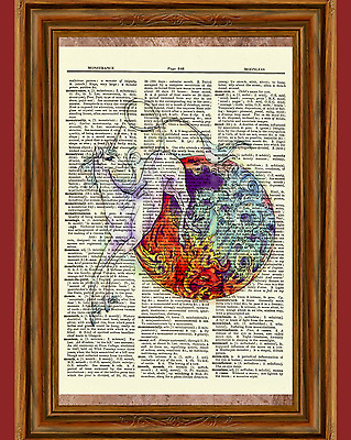 The Last Unicorn Dictionary Art Print Picture Haggard Red Bull Movie Collectible