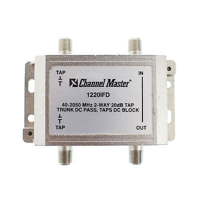 Channel Master 1220Ifd 2-Way Coaxial Catv Tap Module, 20Db, 40-2050Mhz