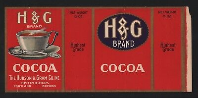 H&G Cocoa - Hot Chocolate - Portland, Oregon - Original Vintage Old - HudsonGram