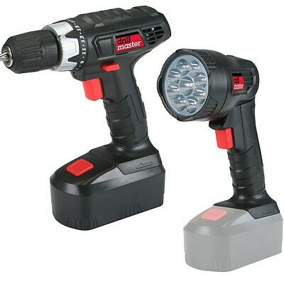 18V Cordless Drill/flashlight set with battery, charger&FREE 10pc insert bits