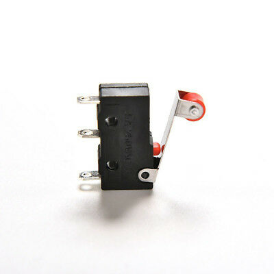 Mini Switches Roller Lever 5A  AC 125-250V 10PCS 3pin KW12-3 MicroSwitch