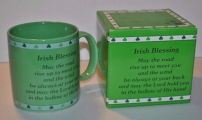 Russ Irish Blessing Green Mug & Box #8229 - Listing #1