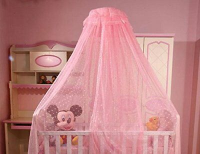 Baby Mosquito Net Baby Toddler Bed Crib Dome Canopy Netting pink, New