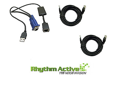 Dell 520-294-504 Usb/vga/cat Kvm Switch Cable Computer Server Ouf366 Ohg526