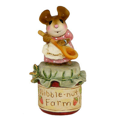 LIL JAR OF JAM by Wee Forest Folk, WFF# TM-2, Tiny Mouse on Jam
