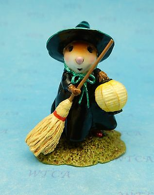 LITTLE WITCH WITH LANTERN by Wee Forest Folk, WFF# M-583 - Witch Mouse 2016