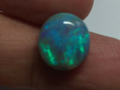 *VIDEO* LARGE ROYAL BLUE GREEN ROLLING FLASH 6ct  BLACK OPAL