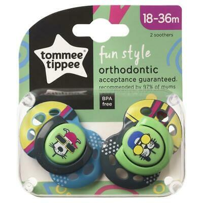 Tommee Tippee Closer To Nature Fun Style Soothers 18-36 Months 2 Pack