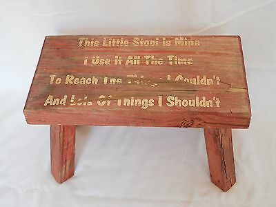Vintage / Antique Foot Stool Child's Red