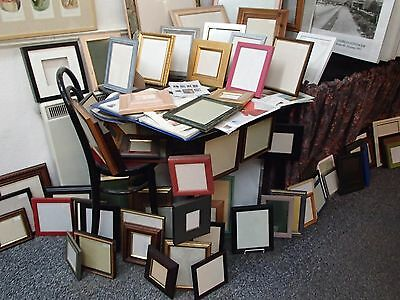 Over 111 Picture Frames - in Various Colours & Sizes - All Hand made