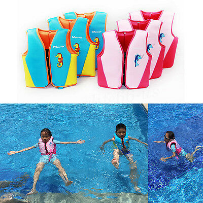 Kid Children Baby Buoyancy Swim Life Jacket Float Inflatable Vest Swimming Aid