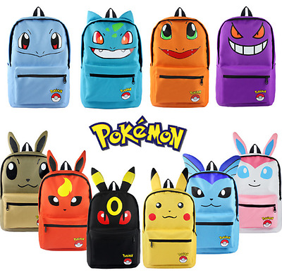 2017 Pokemon Pikachu Eevee Umbreon Bag Backpack with Ear Rucksack Large School