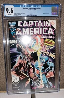 Captain America Annual # 8 - CGC 9.6 - White Pages - Wolverine Appearance - NEW