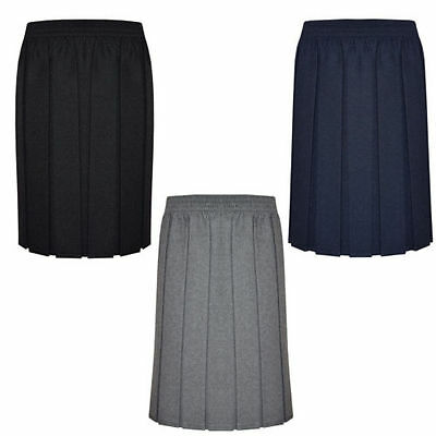 Girls/Ladies Skirt School Uniform Box Pleated Elasticated waist Skirt 2-18Years