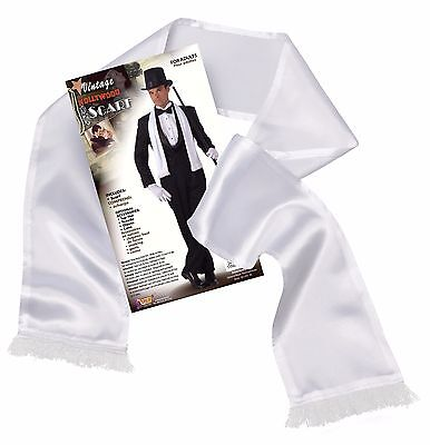 1920's White Scarf Gangster Fancy Dress Costume Accessory