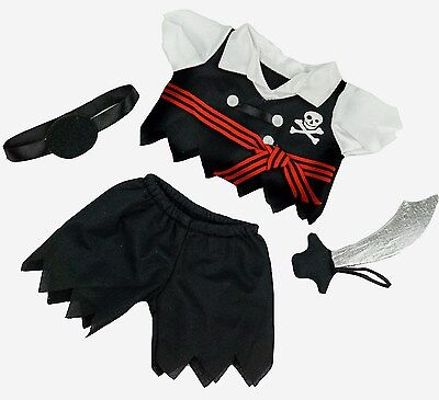 "TEDDY BEAR PIRATE Outfit CLOTHES Fit 8""-10"" Build-a-bear !!! NEW !!! FREE SHI"