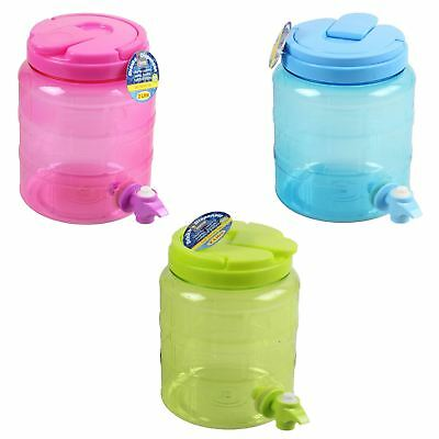 2 Litre Plastic Drinks Cocktail Water Juice Dispenser Container with Tap