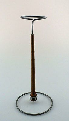 Hat Stand - Bobbin Style - Dark Grey and Brown, Wire and Wood