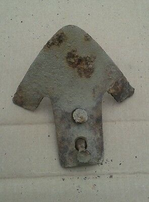 Vintage Cultivator Plow Point Rustic Farm Decor Antique rusty Metal