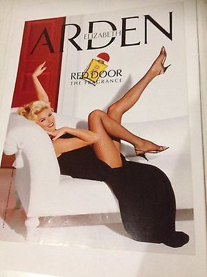 ELIZABETH ARDEN Perfume 1990s Original Vintage AD 1992 - Red Door The Fragrance