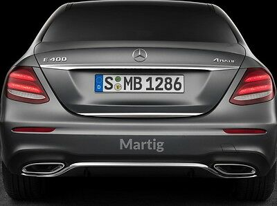 Mercedes E-Class W213 2016- CHROME Rear Strip Trunk Tuning Lid 3M Boot Tailgate