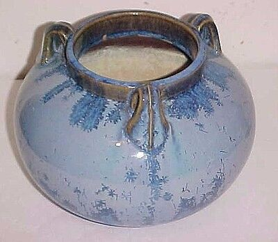 Fulper Art Pottery Vase Blue Crystalline Glaze  Shape # 564 Ca 1918