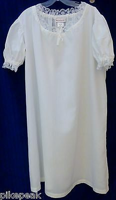 nightgown American Girl Felicity's Night Shift girls S 7/8 white knit Polyester