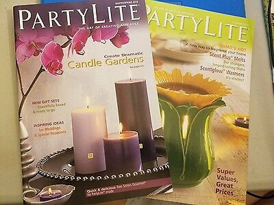 Lot of two (2) PARTYLITE Retail Catalogs = 2011 Winter/Spring & Summer - REF