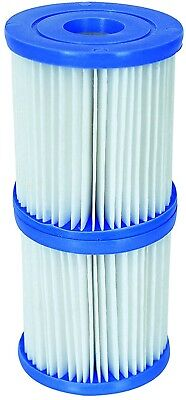 Bestway Size I Swimming Pool Pump Filter Cartridge - 3.1 x 3.5 In - Easy Clean