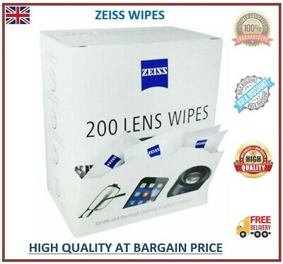 Zeiss Pre Moist Lens Wipes Glassess Individual Sachets Glass Cleaner 5-400 Wipes