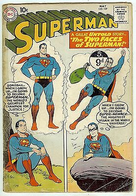 Superman #137 (1960, vg 4.0) price guide value in this grade: $68.00 (£45.00)